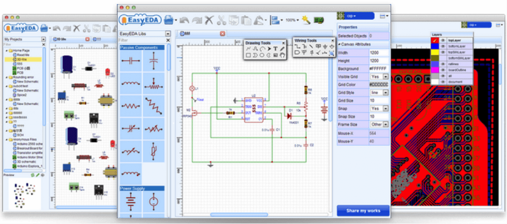 EasyEDA gives makers PCB layout in a browser | Seeed Studio Blog