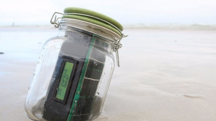 Text Message in a Bottle