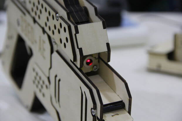 The Front of the Laser Gun