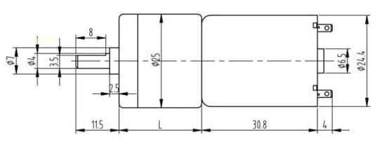 encoder geared motor jga25-371