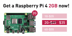 Raspberry Pi 4 2GB now only $35, On SALE now