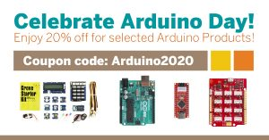 Celebrate Arduino 15th Birthday. Enjoy 20% Off for Arduino- Compatible Products!