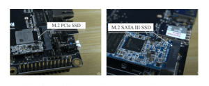What are the M.2 form factor, PCIe, and SATA Interfaces?