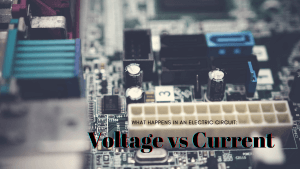 What happens in an electric circuit: Voltage vs Current
