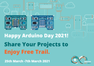 Happy ArduinoDay2021. Free Trial of Arduino Sensor Kit or Grove Beginner Kit for Arduino when you share your cool projects!