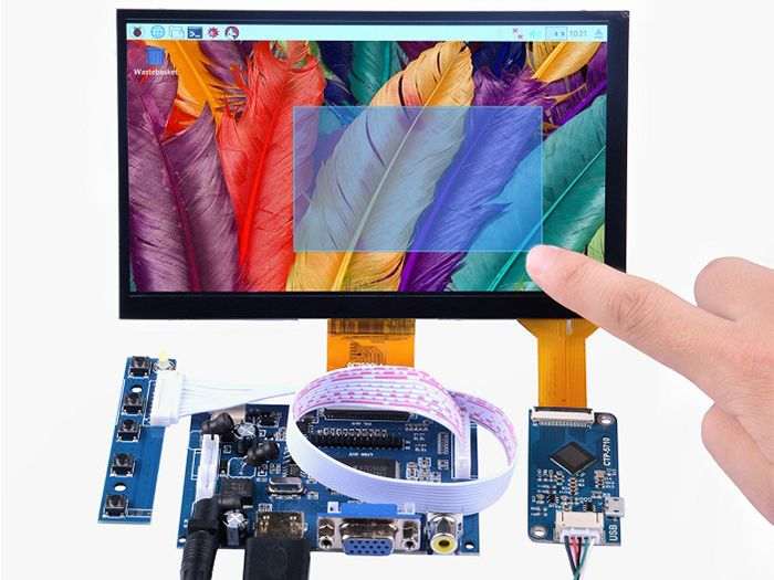 Image 7 Inch 1024x600 Capacitive Touch Screen DIY Kit