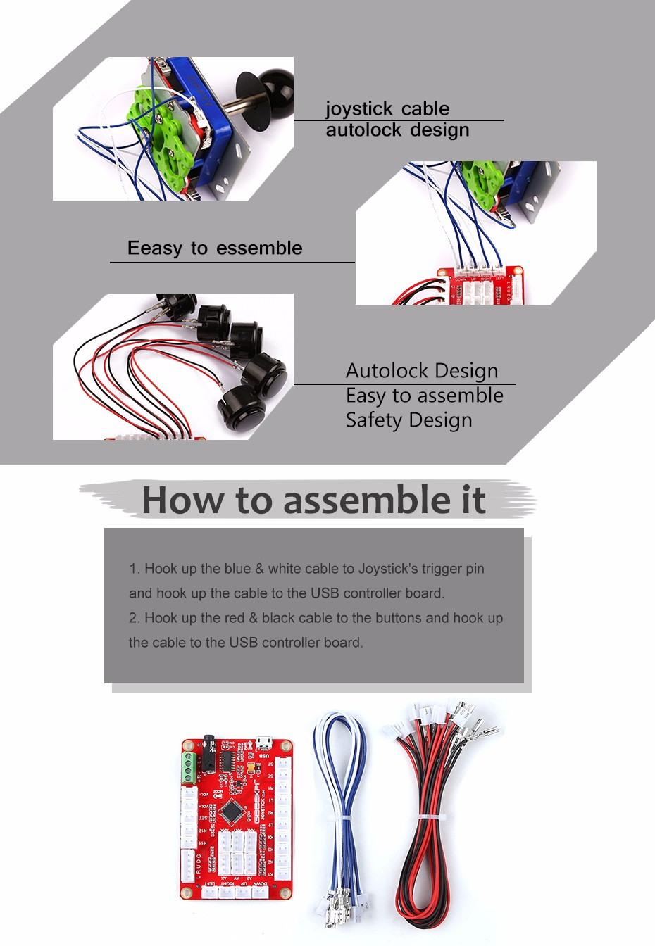 Retro Game Kit For Double Players Accessories Raspberry Pi Autoloc Wiring Diagrams Technical Details